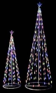 ライトでクリスマスツリー