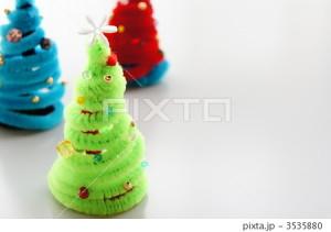 モールで作ったクリスマスツリー